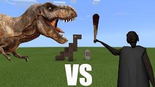 Granny vs T-Rex   Minecraft PE