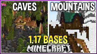 I Made Bases in the New 1.17 Caves & Moutains!