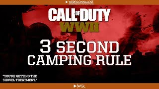 Three Second Camping Rule - Call of Duty WW2 Gameplay Trolling