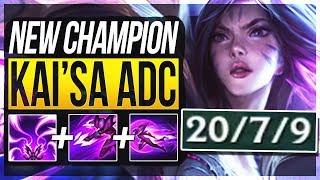 KAI'SA IS ACTUALLY SO BROKEN!! Kai'sa Gameplay ADC New Champion - League of Legends