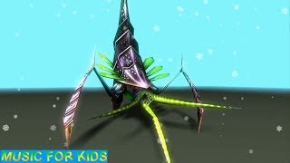 Insectoids Monsters Animated 3D Characters 🔴 MUSIC VIDEO FOR KIDS