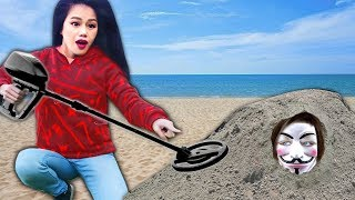 FIND BURIED TREASURE & Win NINJA GADETS vs PROJECT ZORGO IN REAL LIFE (Mystery Box Unboxing Haul)