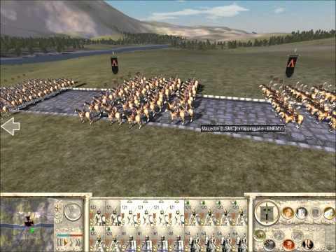 Rome Total War Online Battle #1879: bridge battle (Live-Commentary)