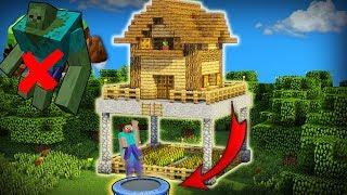 Nhà Sinh Tồn Minecraft Chống Quái Vật Làm Phiền Cực Tốt !