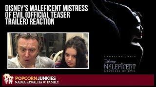 Disney's Maleficent Mistress of Evil (OFFICIAL TEASER TRAILER) The Popcorn Junkies Family Reaction