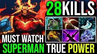 SuperMan Mode [Sven] Vs [Tiny] Hard Game Battle SUPERMAN TRUE POWER 28Kills 7.19c | Dota 2 Highlight