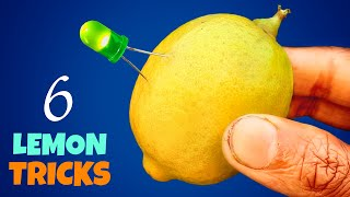 6 Amazing Lemon Tricks || Easy Science Experiments With Lemon