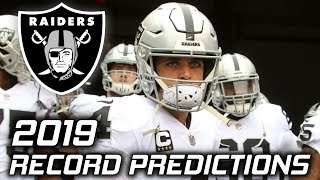 Oakland Raiders 2019 Season Predictions