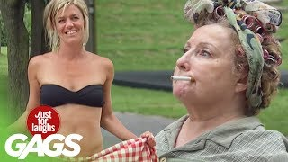 Sexy Lady Turns Into Old Woman - Just For Laughs Gags
