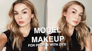 everyday model makeup but for people who have acne lol | miranda kerr inspired