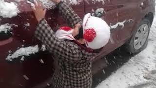 Fresh spell of snowfall in Kashmir #trending #snowfall2019