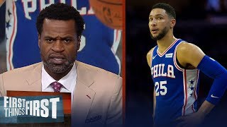 Stephen Jackson on Ben Simmons: He can't shoot, he won't even shoot it' | NBA | FIRST THINGS FIRST