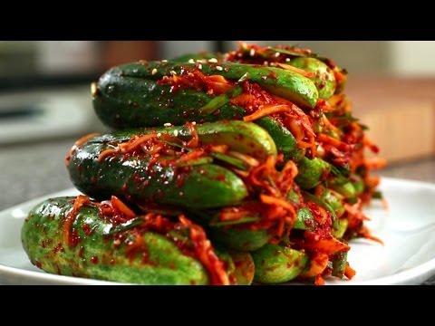 Cucumber kimchi (Oi-sobagi: 오이소박이)