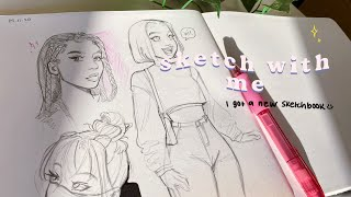 Sketch with me  *chill*✨☁️🌱
