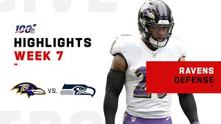 Ravens Defensive Highlights vs. Seahawks | NFL 2019