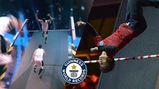 Highest Wall Run Backflip - Guinness World Records