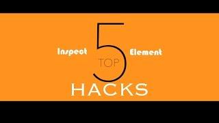 Top 5 BEST Inspect Element HACKS!
