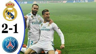 Real Madrid vs PSG 2-1 Champions league | highlights & goals |