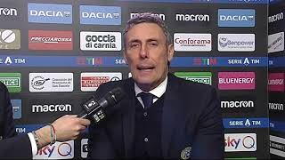 12 gennaio 2020   Udinese - Sassuolo 3-0   intervista Gotti post partita