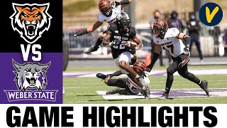 Idaho State vs #3 Weber State Highlights   FCS 2021 Spring College Football Highlights