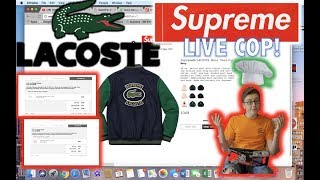 SUPREME X LACOSTE WEEK 9 LIVE COP: SUPREME CHEF & SOMEONE GOT ARRESTED FOR RESELLING SUPREME