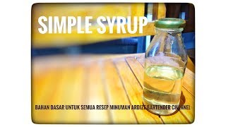 Resep Minuman - cara membuat simple syrup