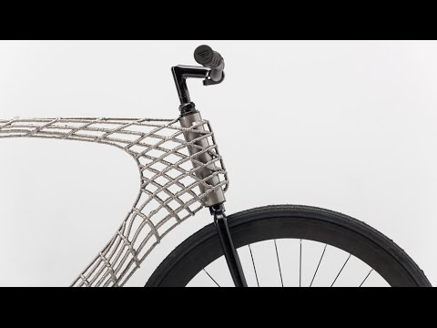 Arc Bicycle has 3D-printed steel frame created by TU Delft and MX3D