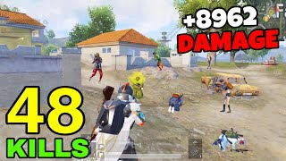 8962 DAMAGE - NEW DAMAGE RECORD in SEASON 18😱 | 48 KILLS vs SQUADS | PUBG Mobile