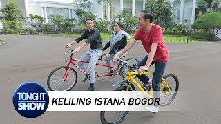 Asyiknya Vincent Desta Santai Bareng Presiden Jokowi