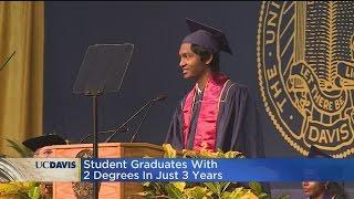 UC Davis Graduate Walks With Two Degrees In Three Years