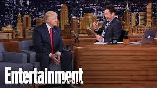 Jimmy Fallon Responds To Trump's Diss Tweet With RAICES Donation | News Flash | Entertainment Weekly
