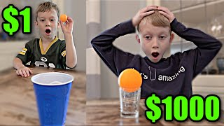 Ping Pong TRICK SHOTS for $1,000