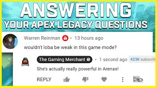Answering Your Questions About Apex Legends Legacy & Arenas Mode! (Season 9 Playtest Impressions)