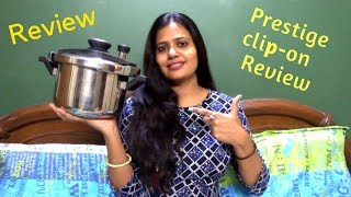 Prestige Clip-On Cooker Review in Hindi   Prestige Cooker    stainless steel pressure cooker review