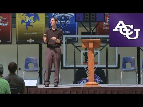 ACU Chapel with Jarrod Robinson; April 11, 2016