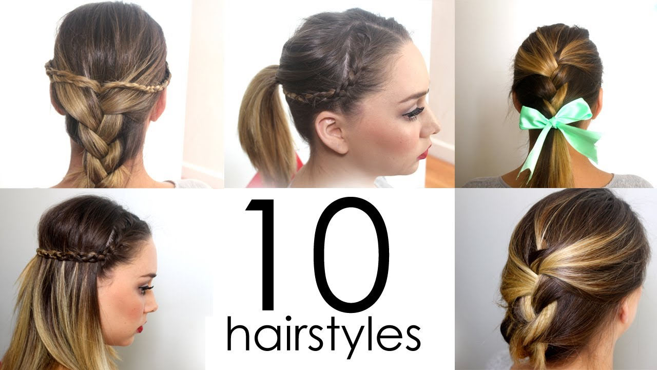 Cute Hair Styles For Medium Hair: 10 Quick & Easy Everyday Hairstyles In 5 Minutes