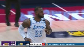 LEBRON TAKES OVER! Los Angeles Lakers VS Indiana Pacers Final Minutes!