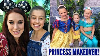Taking The Kids To Get Princess MAKEOVERS At Disneyland!