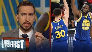Warriors sweep Blazers, head to 5th straight Finals - Nick & Cris react   NBA   FIRST THINGS FIRST