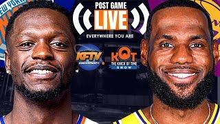 New York Knicks vs. Los Angeles Lakers Post Game Show| Highlights, Analysis, Caller Reaction