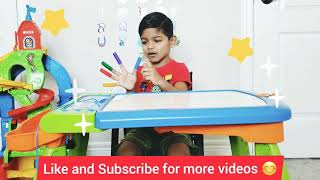 Learning colors for toddlers and children best learning Video for toddlers learn color with crayons