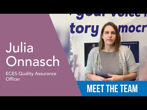Julia Onnasch - ECES Quality Assurance Officer