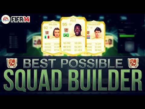 BEST POSSIBLE LEGEND TEAM! w/ PELE   FIFA 14 Ultimate Team Squad Builder