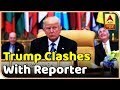 Trump clashes with reporter, calls him rude