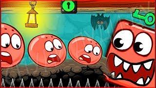 ОГРОМНЫЙ БОСС СКЕЛЕТ ИЗ МАИНКРАФТ КРАСНЫЙ ШАРИК 4 - ПОДЗЕМНЫЕ ХОДЫ мультик игра для детей RED BALL 4