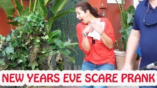 NEW YEARS EVE Bushman Scare Prank - MAD Steroids User - 4K -- Funny Video - funny prank