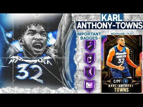 GALAXY OPAL KARL-ANTHONY TOWNS GAMEPLAY! HES GOT RANGE! NBA 2k20 MyTEAM