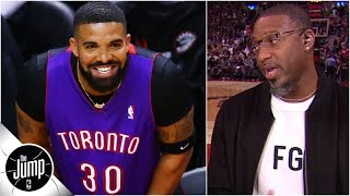 Tracy McGrady reacts to Drake's Dell Curry Raptors jersey from Game 1 | The Jump