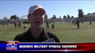 Marine Fitness Day at Challenger Middle! KUSI