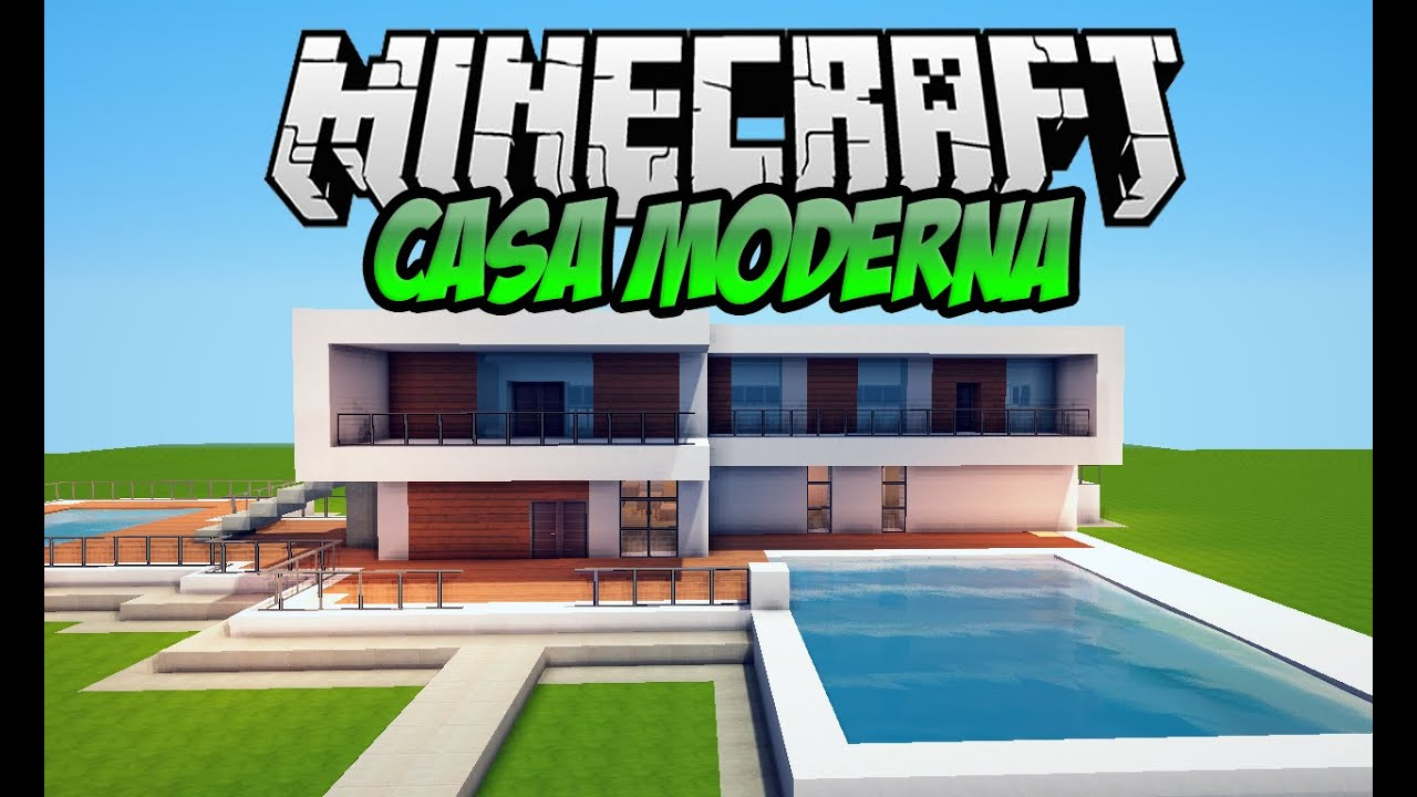 Minecraft casa moderna no superplano para download 3 for Casa moderna 0 12 1